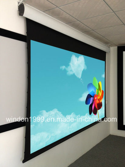 92 Inch Tab Tension Electric Projector Screen China Manufacture