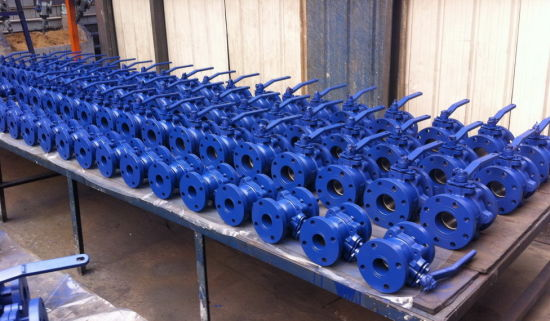 ANSI Cast iron 125LB ball valve 2 PC full bore pictures & photos