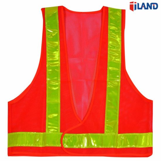 Safety Vest Mesh Vest Traffic Fluorescent Breathable Adjustable Pvc Tape Workplace Safety Supplies