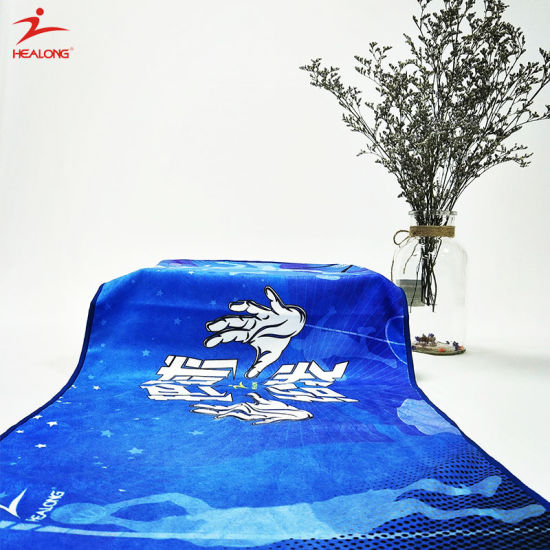 China Healong Custom Sulimaton Beach Towel Sport Gym Yoga Cotton