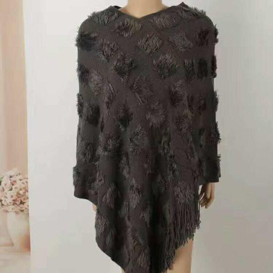 2017 Stylish Warm Sweater Knitted Winter Long Women Cardigan Shawl Poncho