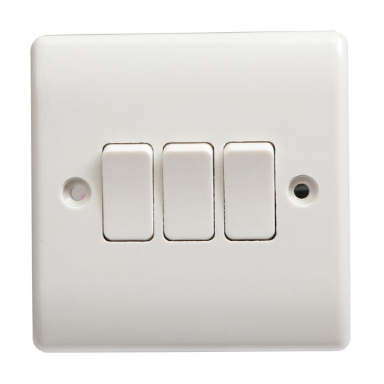 China single pole 3 gang 1 way electric switch china electric single pole 3 gang 1 way electric switch sciox Images