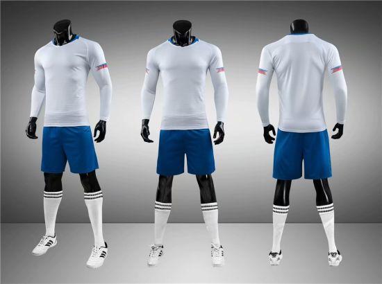 2019 White Long Sleeve Soccer Uniforms