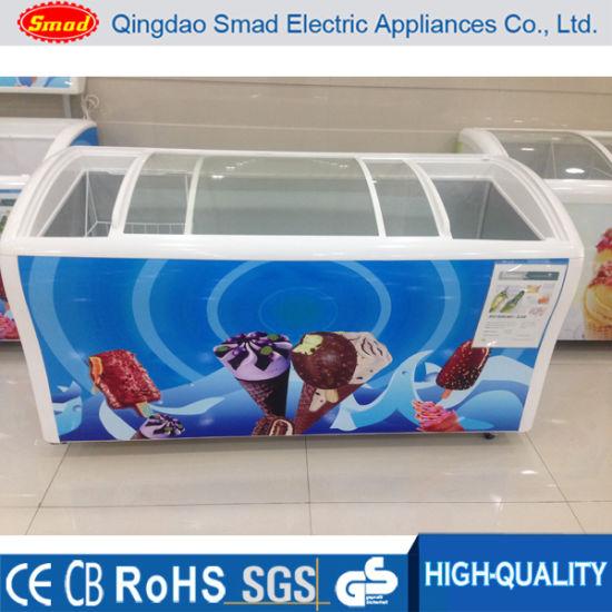 Ice Cream Freezer Display Freezer Sliding Glass Door Chest Freezer