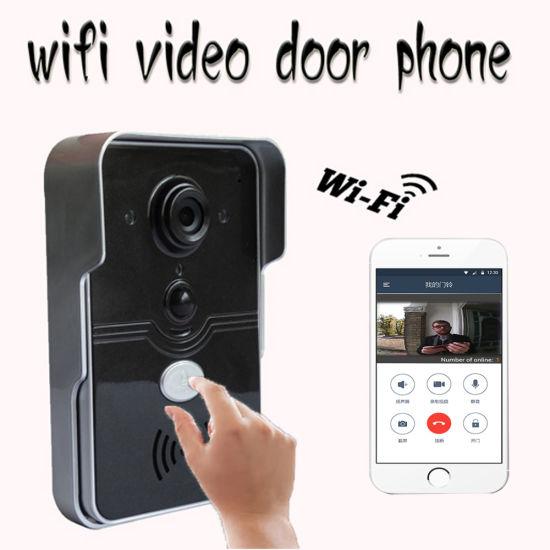 Smart Home Unlock Doorbell With Remote Control WiFi Video Ring Door Phone
