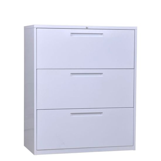 Tremendous Office Furniture Lateral 3 Drawer File Cabinet For Store Document With Key Lock Interior Design Ideas Grebswwsoteloinfo