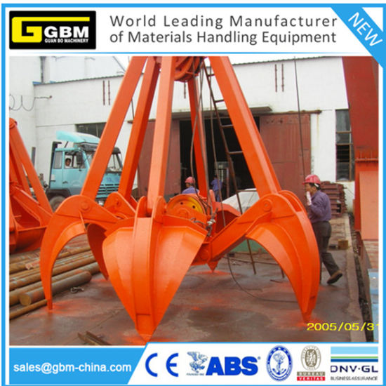 Four Rope Wirerope Mechanical Orange Peel Stone Grab pictures & photos