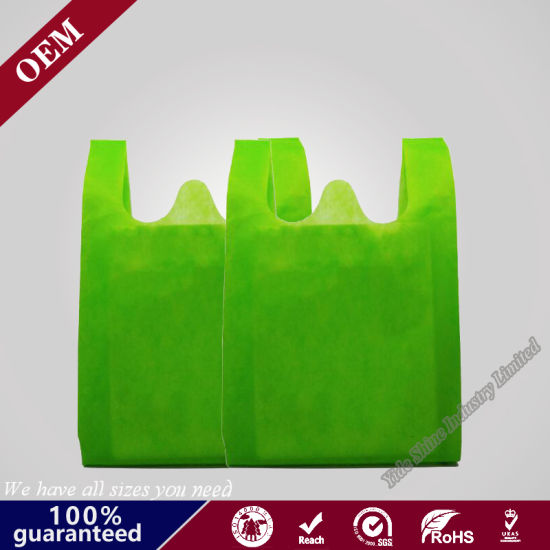 T Shirt Eco Friendly Laminated Non Woven T Shirt Shopping Carry Packaging Bag for Supermarket
