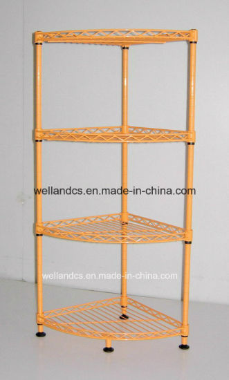 Triangle DIY Metal Wire Rack Storage Shelving With Corner Units