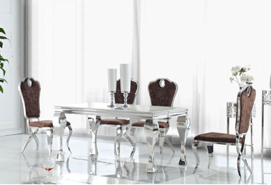 China Wholesale Dining Table and Charis Set Glass Dining Room ...