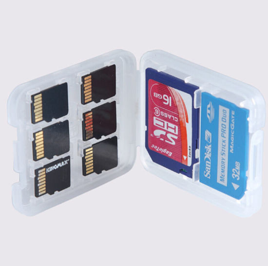 8 in 1 for 6PCS of Micro SD Card + 1 SD Card and 1 Memory Ticket PRO Dro Plastic Micro for SD SDHC TF Ms Memory Card Storage Case Box Protector Holder