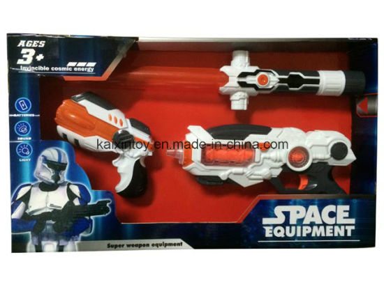 Plastic Toy of Sword and Gun with Flashing Laser Light pictures & photos