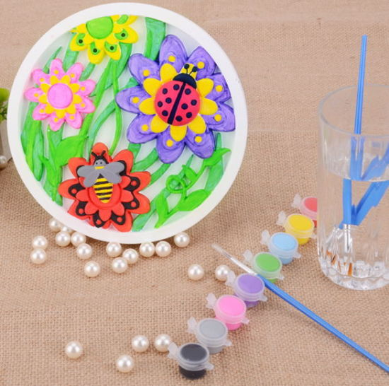 Custom Kids Activity Toy Children Creative Early Educational Eco-Friendly Gypsum Painting Set