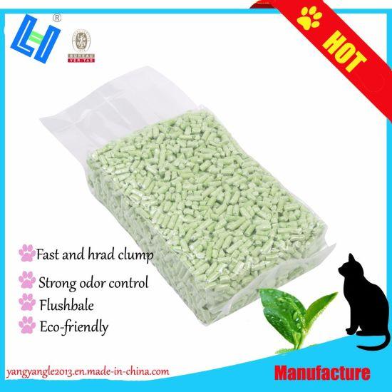 Pet Supply Fast Clump Green Tea Tofu Cat Litter