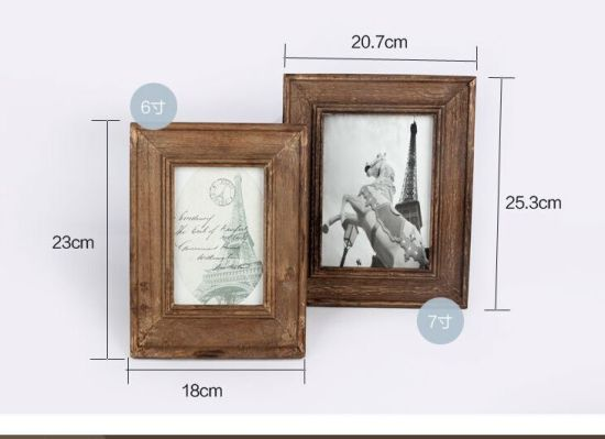 China Wholesale Wooden Picture Frame Home Decor 6/7-Inch Photo ...