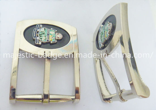 Customized Zinc Die Cast & Plating Silver Belt Buckle pictures & photos
