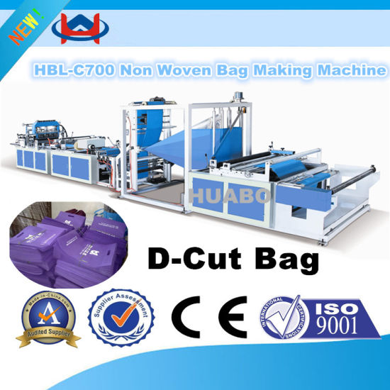 Hbl-700 Type Non-Woven Fabric Box Bag Making Machine pictures & photos
