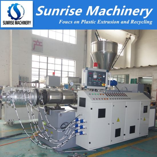 Twin Screws Extruder Machine for Plastic PVC Pipe and Profile