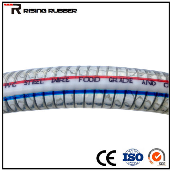 "1/2""-8""PVC Fiber and Steel Wire Reinforced/Spiral Steel Wire Reinforced Hose pictures & photos"
