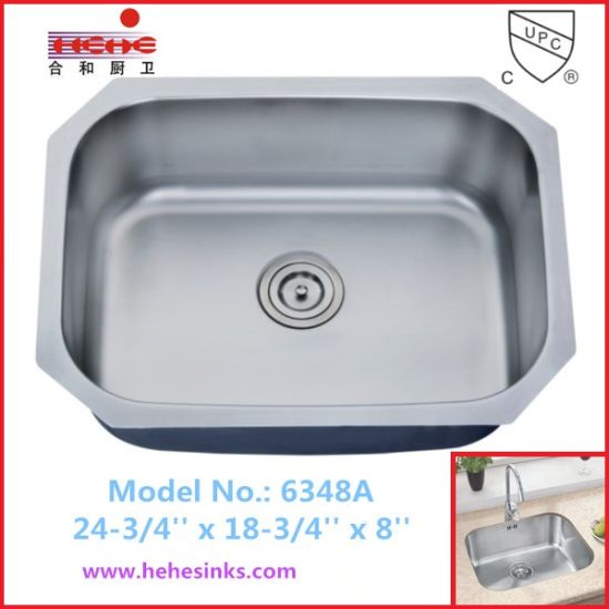 Satin Finish Undermount Stainless Steel Kitchen Sink, Bar Sink (6348)