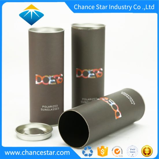 Custom Printed Cardboard Paper Cylinder Box for Perfume Packing