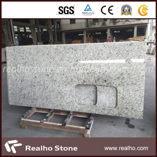 High Quality Brazillian White Rose Granite Kitchen Countertops pictures & photos