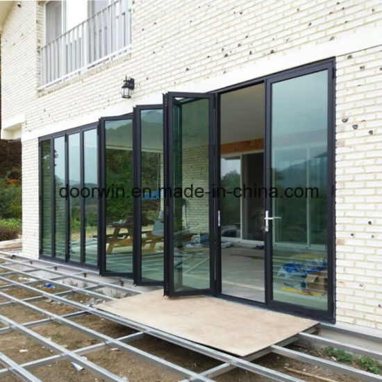 China Made Aluminum Vertical Bi-Folding Door - China Folding Sliding ...