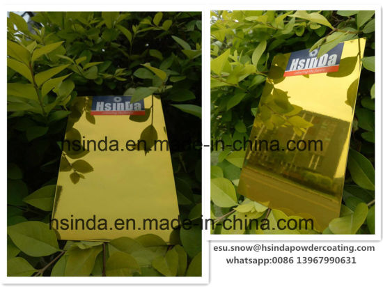 Highly Protective Candy Transparent Clear Gold Single Coat Powder Coating pictures & photos