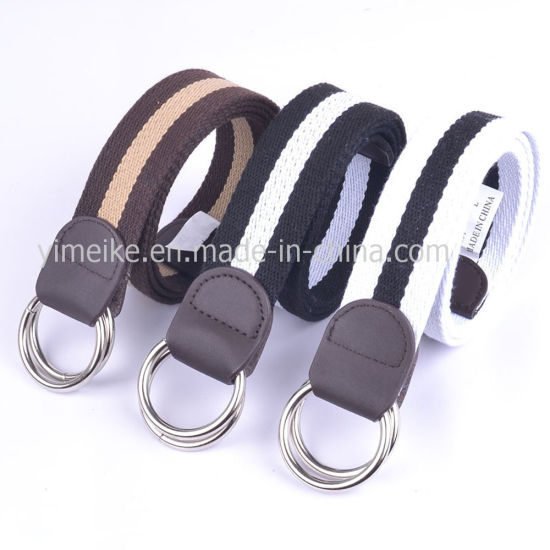Fashion Style Original Double Loop Buckle Men's Stock Fabric Belts