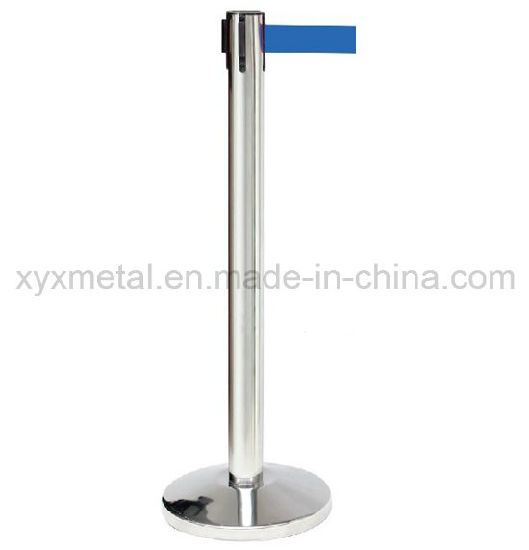 Stainless Steel Fence Crowed Control Queue Retractable Rope Stanchion Belt Barrier