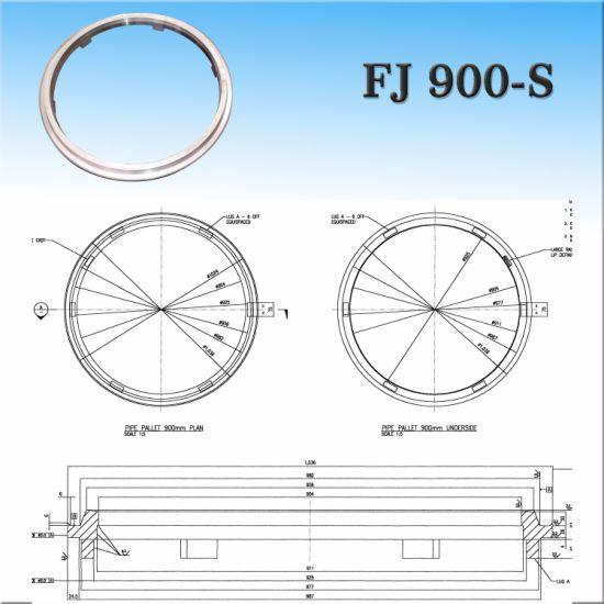FJ 900mm Flush Joint Reinforced Concrete Pipe Cast Steel Pallet