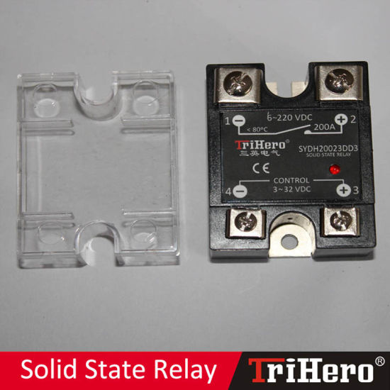 China 200A DCDC Single Phase Solid State Relay SSR China Solid
