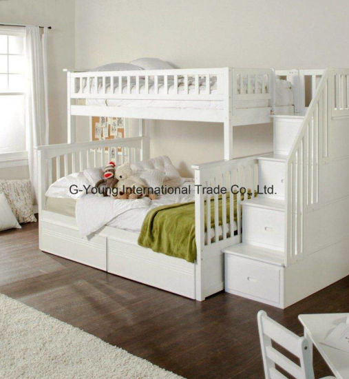 Different Colors Environmentally Friendly Bedroom Furniture Bunk Bed for  Kids