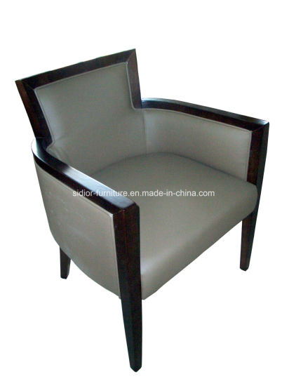 (CL-2219) Antique Hotel Restaurant Furniture Wooden Leisure Chair with Arm pictures & photos