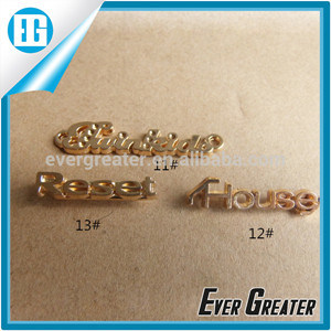 Custom Wholesale Good Metal Brand Logo Label for Garment