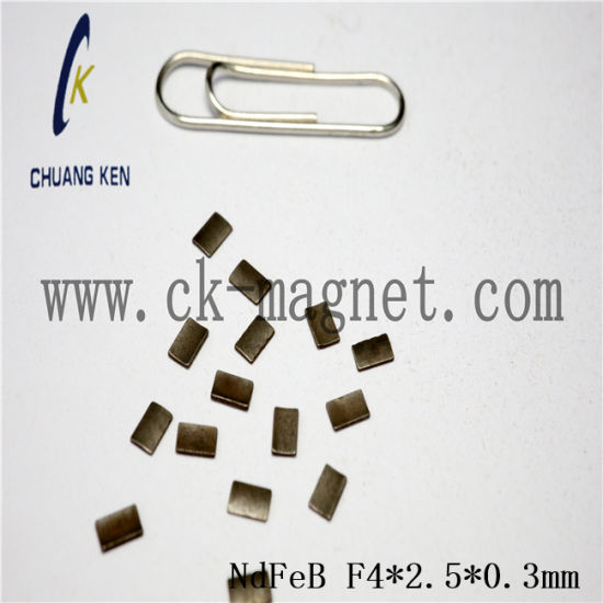 Ck-233 NdFeB Magnet Grade F4*2.5*0.3mm pictures & photos