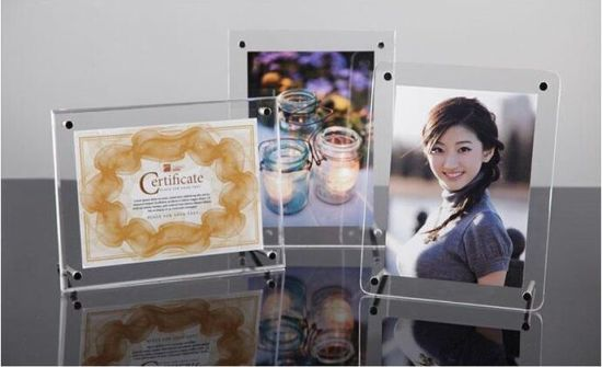 Hot Sale Clear Custom Acrylic Photo Frames for Decorations pictures & photos