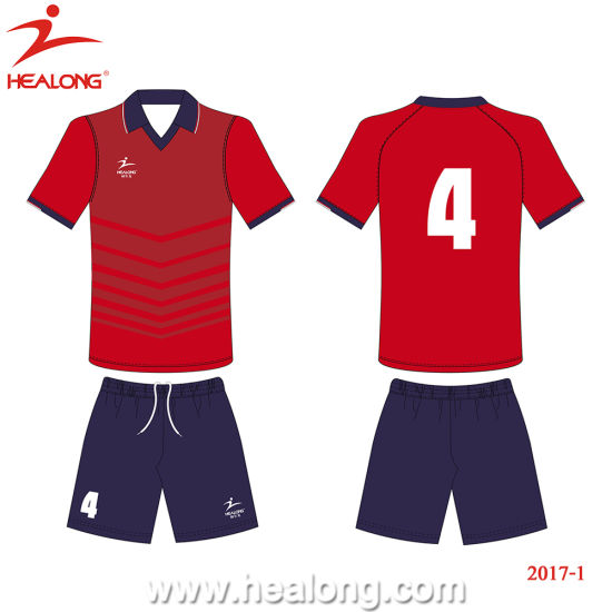3b4225a9789 Healong Popular Sportswear Sublimation Team Match Football Jersey on Sale  pictures   photos