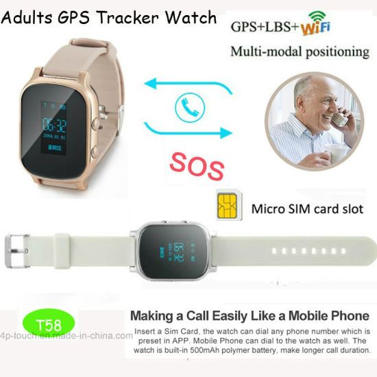 GPS Tracker Watch for Adult with Two Way Communication pictures & photos