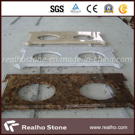 Competitive Price Natural Stone White/Brown/Beige Marble Countertop pictures & photos
