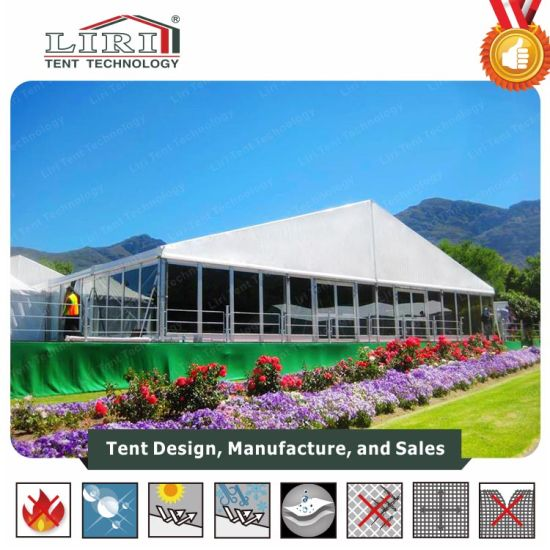20m Outdoor Aluminum Event Marquee Tent with Glass Wall for Exhibition