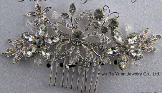 Charming Bridal Wedding Crystal Pearl Silver Hair Comb pictures & photos