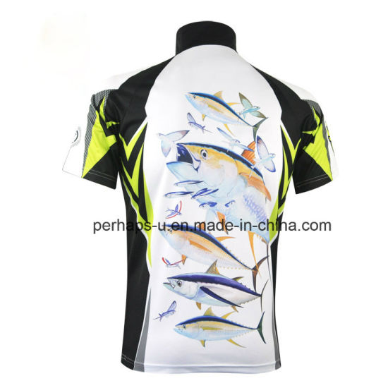 Quick-Drying Short Sleeve Fishing Jersey with Sublimation Printing pictures & photos