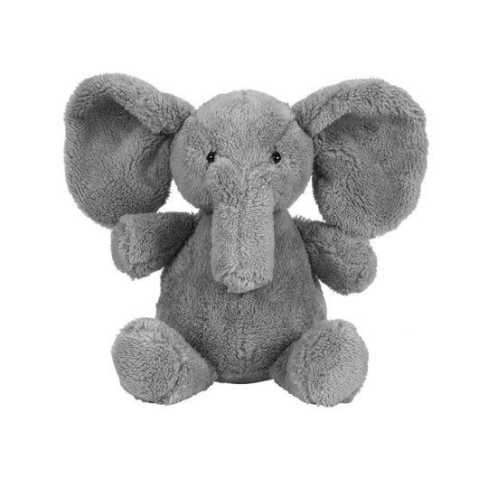 China 2018 Grey Elephant Plush Toys With Embroidery Eyes And Big
