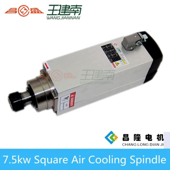 CNC Router Spindle 7.5kw Air Cooled Spindle Collect Er32 18000rpm for Wood Carving Brand Changsheng pictures & photos