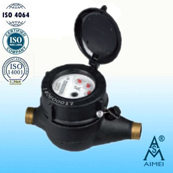 Multi Jet Plastic Cold Water Meter with Brass Thread pictures & photos