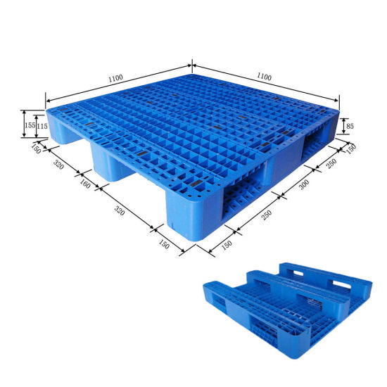 HDPE Edge Racking Use Plastic Pallet with 8 Steels Reinforced