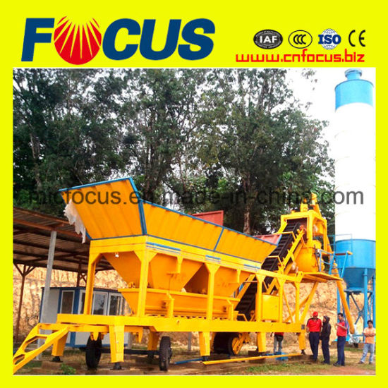 Yhzs25 Mini Mobile Concrete Batching Plant From China Construction Machinery Factory pictures & photos