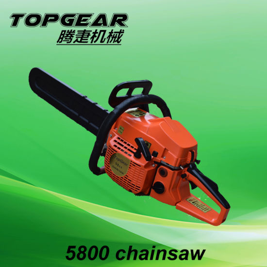 China Topgear Gasoline 5800 Chainsaw for Forest Machinery pictures & photos