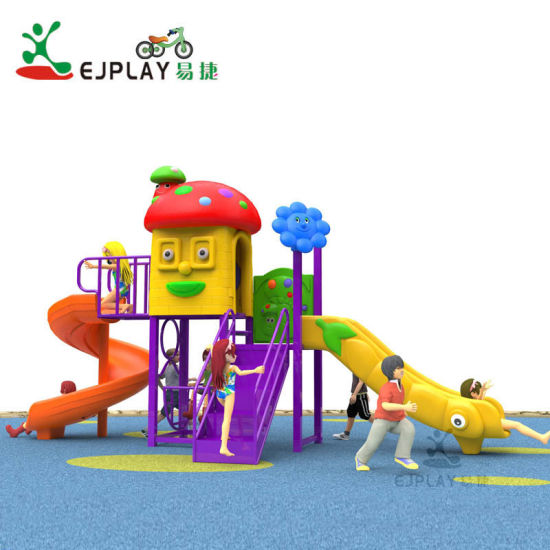 Baby Colorful Entainment Equipment with Plastic Slide